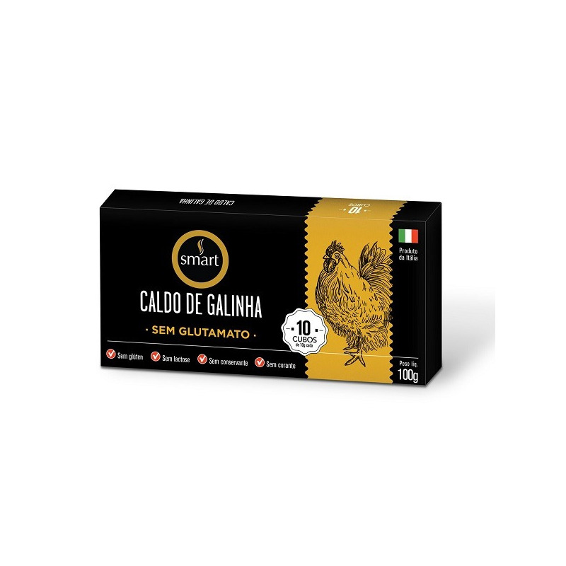 Caldo de Galinha Italiano (10 Cubos) - 100g - Smart