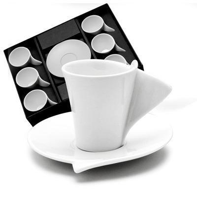 Jogo Xícatas de Café com Pires Lyon - Wolff 3101159