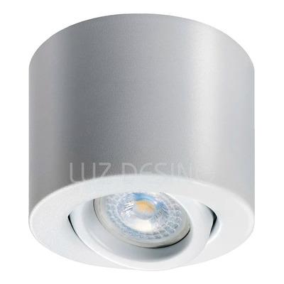 Spot Plafon Monovolumen Blanco Gu10 Apto Led Luz Desing