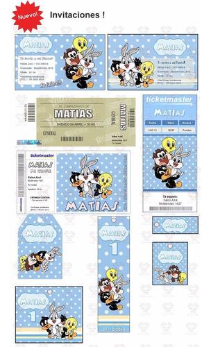 Kit Imprimible Looney Tunes Bebes Nenes Promo 2x1 Toons En