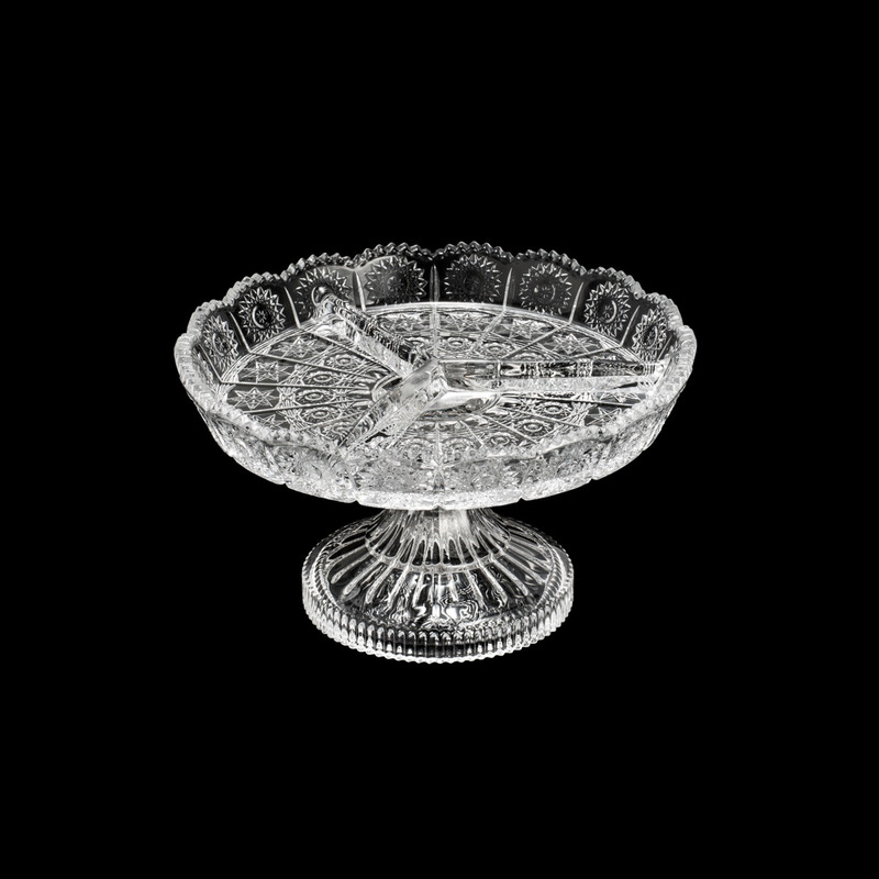 Petisqueira De Cristal com Pé Starry - Wolff 31030182