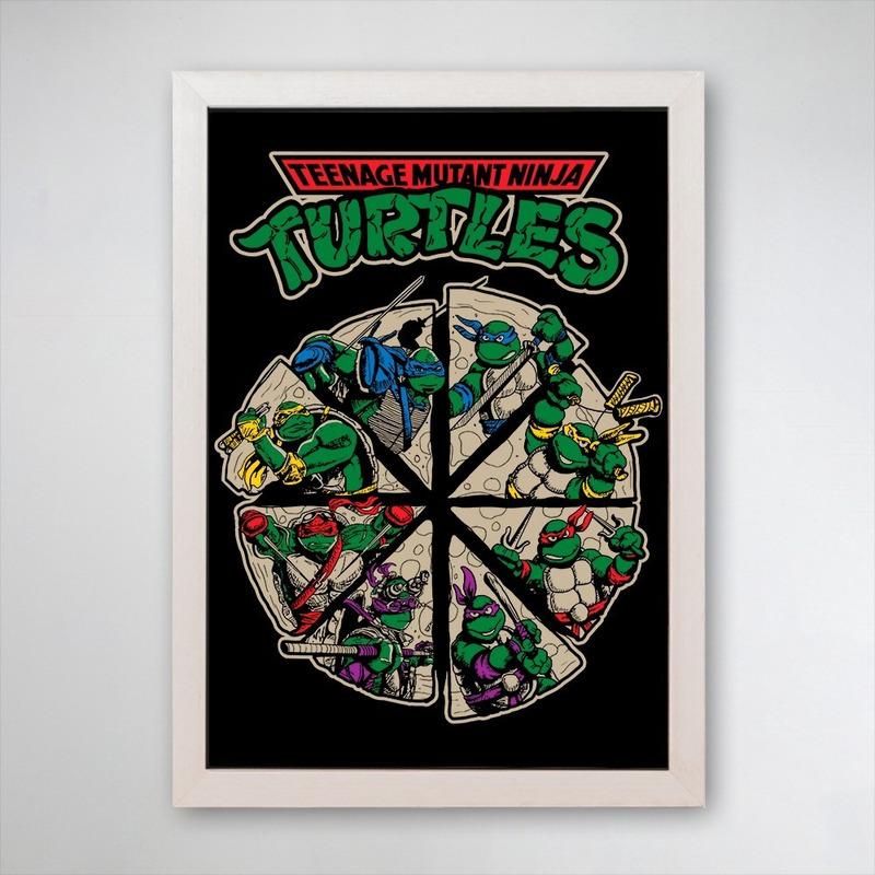 PÔSTER COM MOLDURA - TURTLES