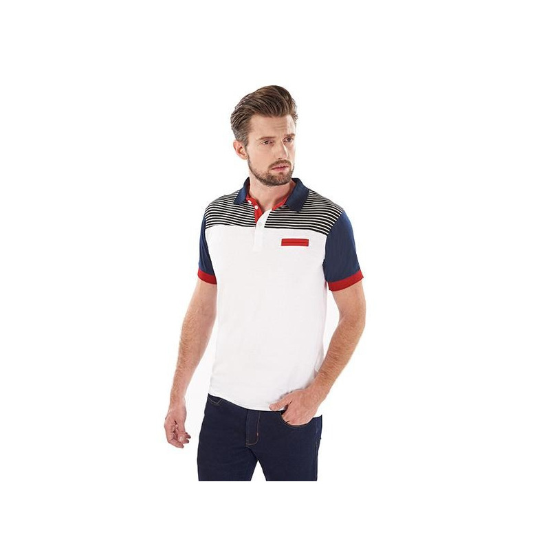 Camisa blanca y marino manga corta 014586