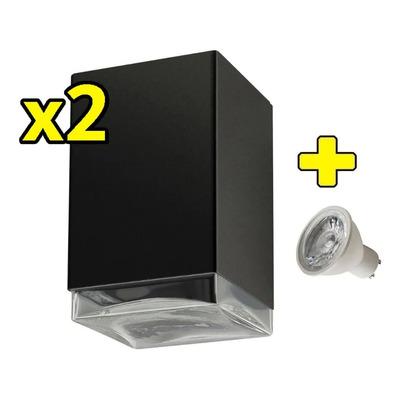 Pack X 2 Difusor Exterior Unidireccional Con Led Gu10