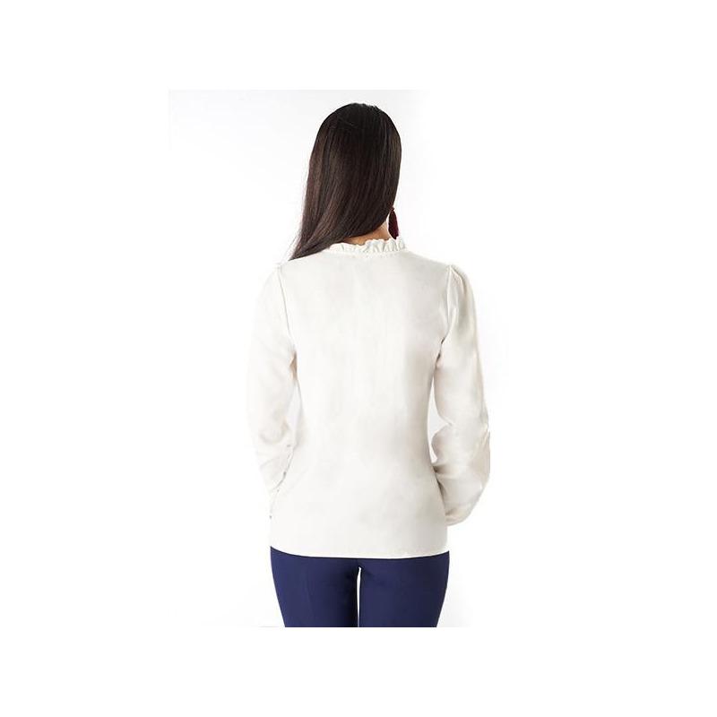 Blusa cuerpo escote bordado 019-217