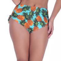 Calcinha Summer Soul Hot Pants Com Amarração Abacaxi Azul