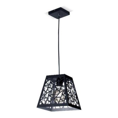 Lampara Colgante Industrial Vintage 1 Luz Negro E27 Pal Sf