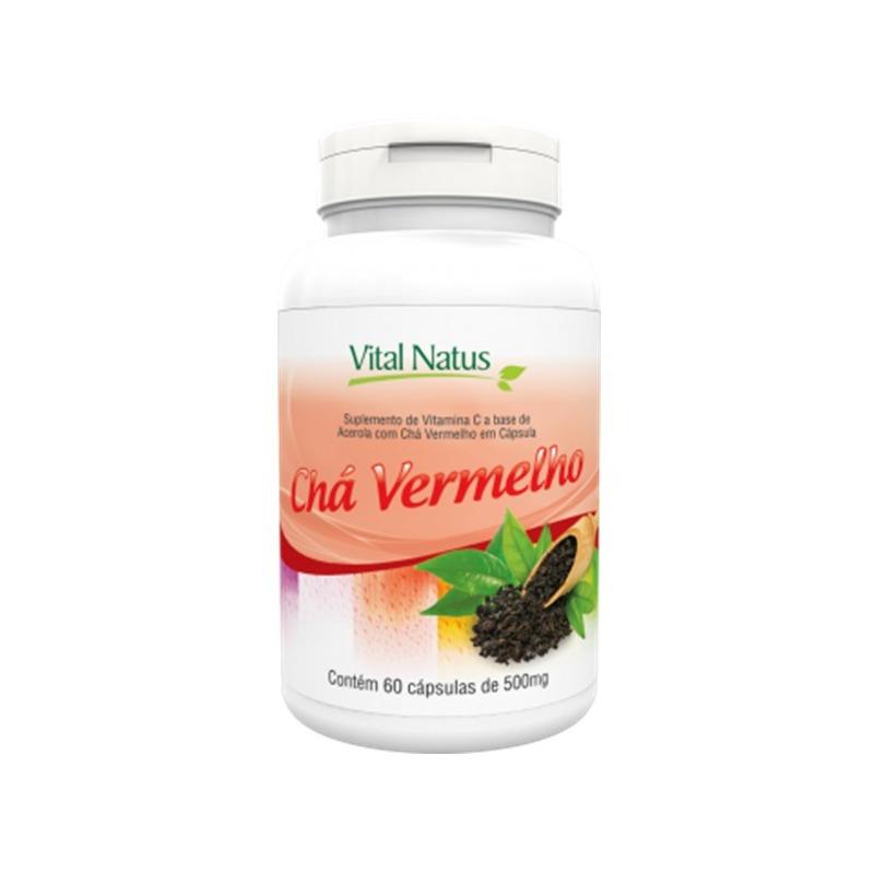 Cha Vermelho - 60 capsulas de 500mg - Vital Natus
