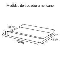 Trocador americano 70 x 45 x 10