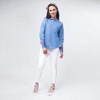 Blusa Azul Mezclilla Con Estampado 017340