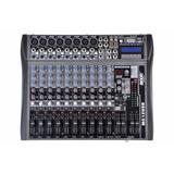 Consola Mixer Moon Mc12usb 12canales Usb Sd Efecto Grabacion