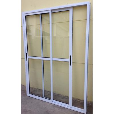 Ventana balcon aluminio blanco 120x200 cierres laterales for Ventana balcon medidas