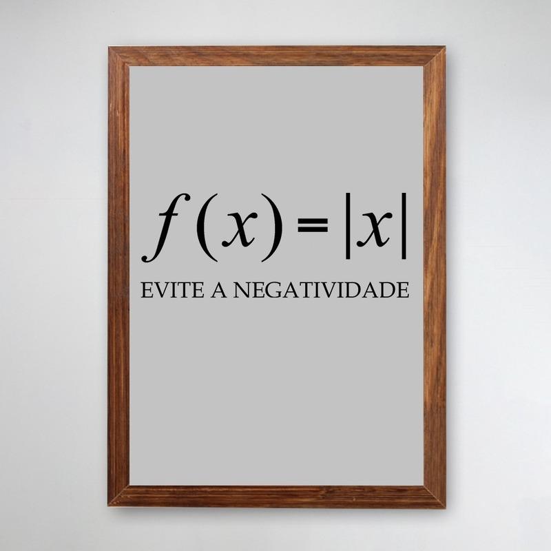 PÔSTER COM MOLDURA - EVITE A NEGATIVIDADE