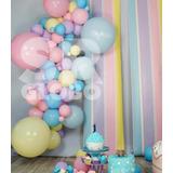 materiales para armar vos mismo 2 mts de guirnalda globos pastel