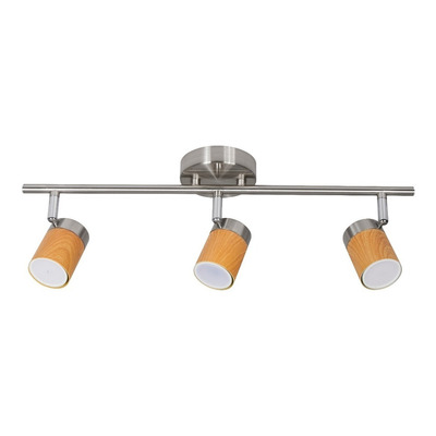 Aplique 3 Luces Dexia Movil Niquel Madera Led Gu10 Deco Lk