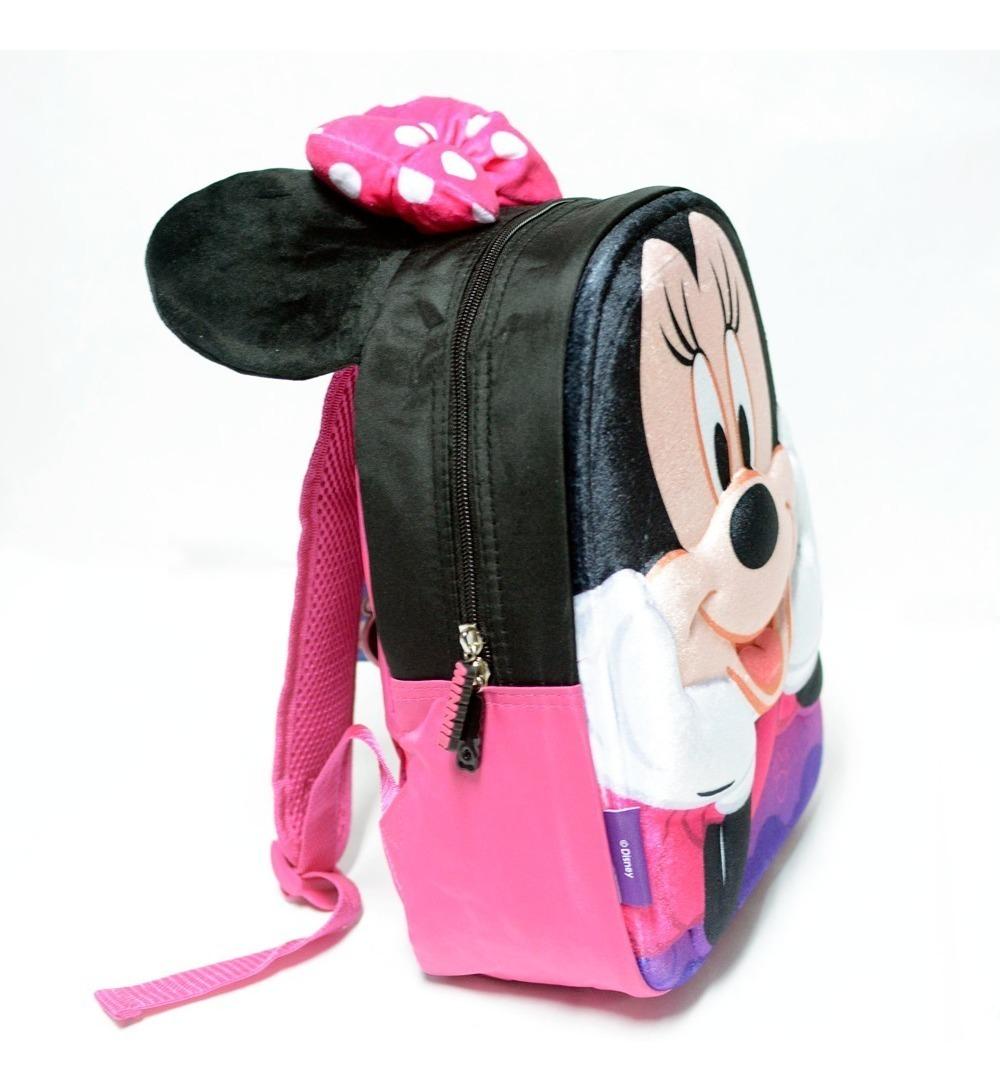 Mochila Minnie Disney Aterciopelado Con Orejas 3d