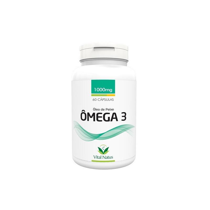 Omega 3 - Oleo de Peixe - 60 capsulas 1000 mg - Vital Natus