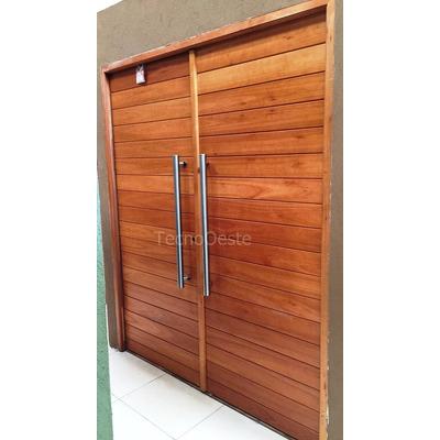 Portada puerta doble oblak 2331 madera 180 cm hojas 90 cm for Puerta doble madera