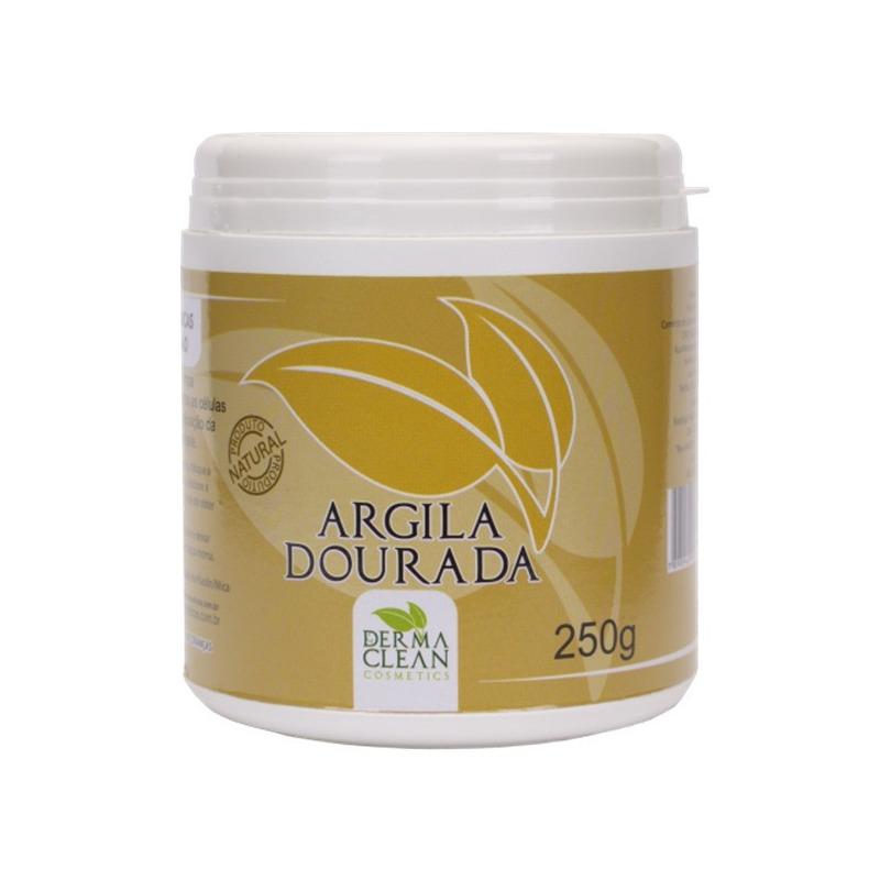 Argila Dourada em po - 250g - Dermaclean