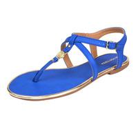 Sandalia piso azul con dorado 016352