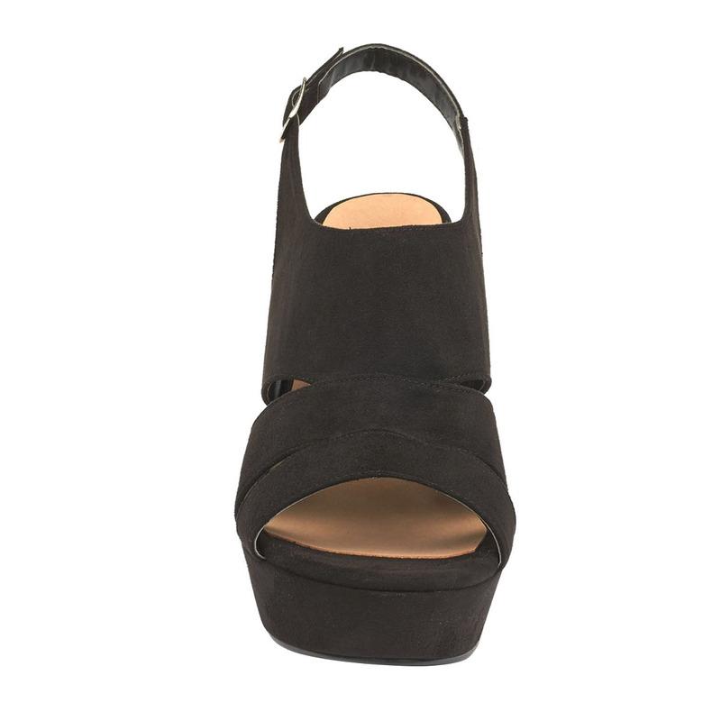 Sandalia tacón negra  016620