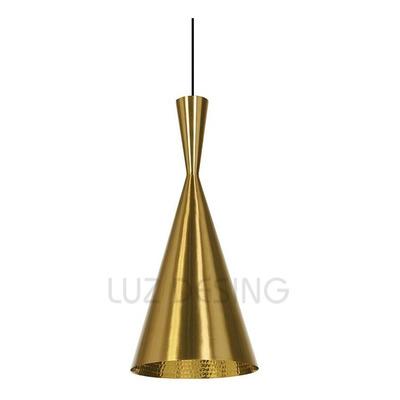 Colgantes Modernas Beat Tall Oro Dorado Apto Led Deco