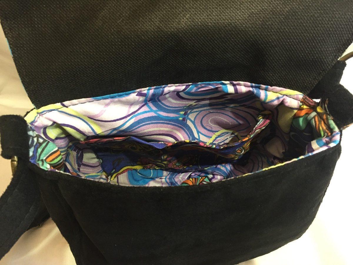 affc53579 cartera tela y gamuza | violetas para violeta