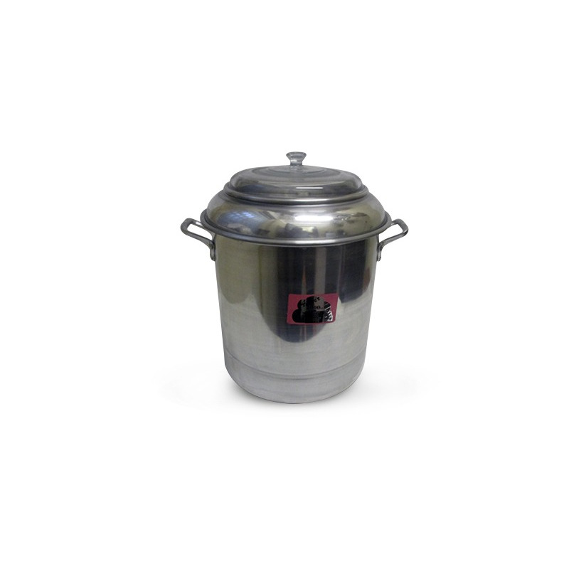 Vaporera Aluminio No.34 C/Tapa De Cristal Moldelo:  1474106