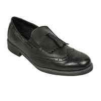 Zapato vestir negro con flecos 018780