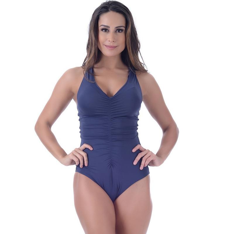 Maiô Summer Soul Frente Única Azul Marinho