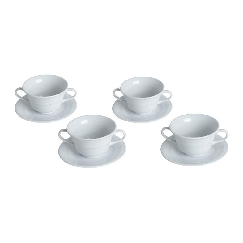 Jogo 04 consume para Sopa com Pires - Bon Gourmet 3101018