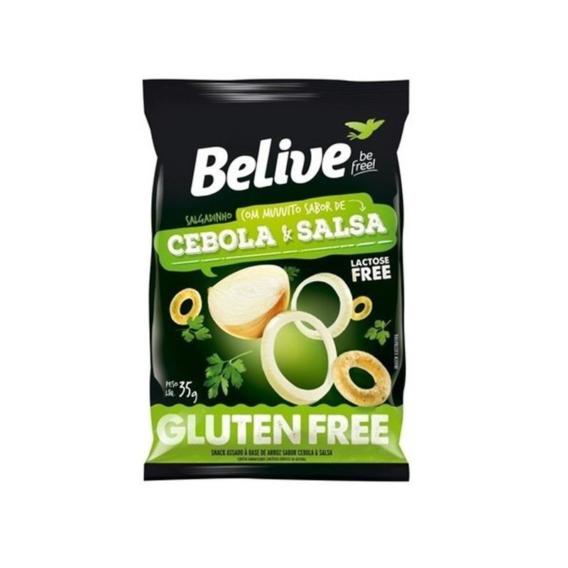 Snack de Arroz Sem Gluten Cebola & Salsa 35g Belive Be Free