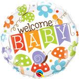 globo welcome baby 45cm desinflado apto helio
