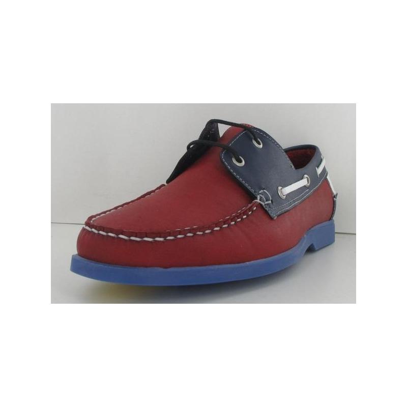 Mocasín rojo multicolor 011352