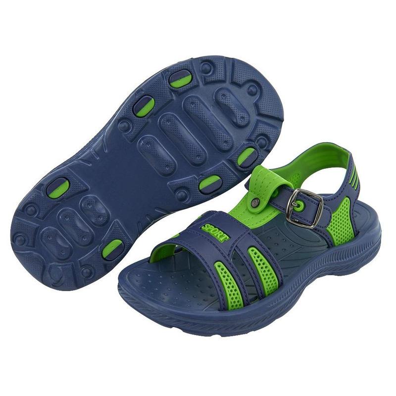 Sandalia Sport Azul Con Verde  014720