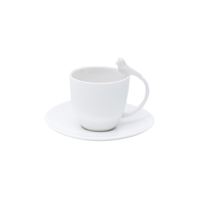 Jogo 6 Xícaras De Café De Porcelana Birds 82Ml - Bon Gourmet 31017236