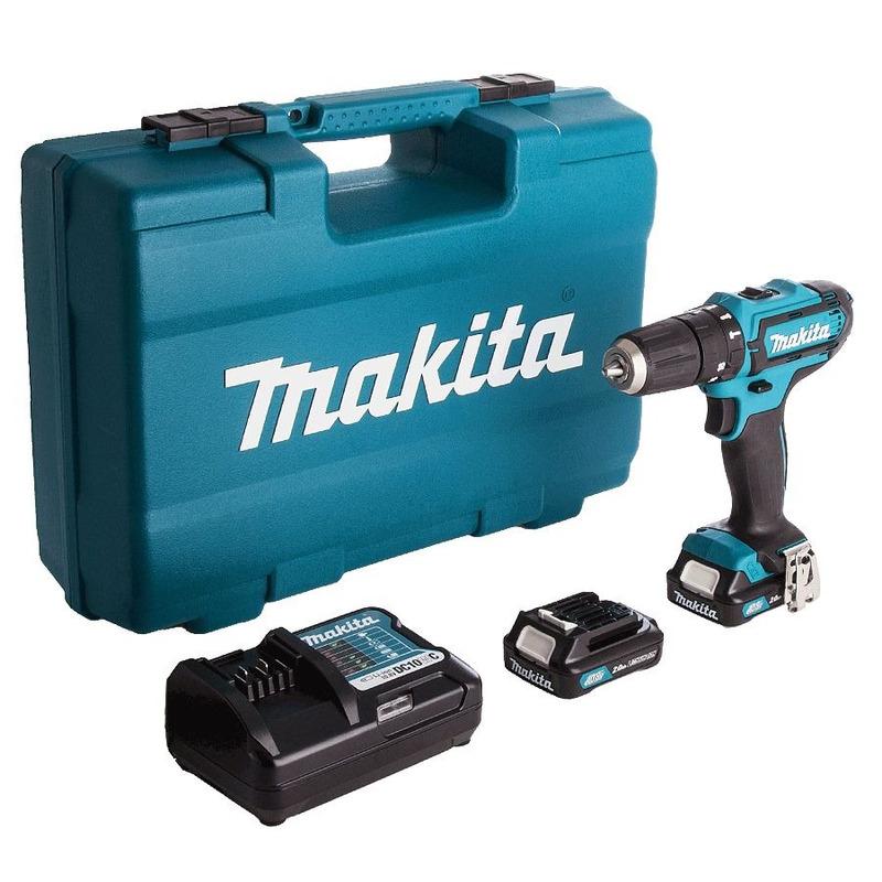 Kit Combo Parafusadeira e Furadeira de Impacto 10mm a Bateria 12V + Maleta para Transporte com 70 Ac