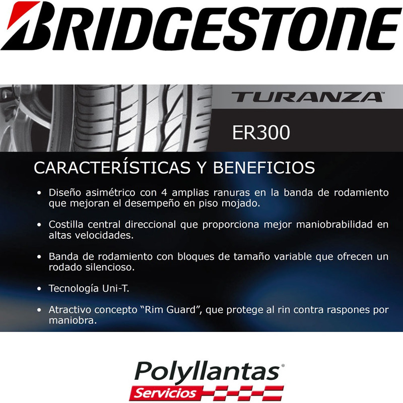 195-50 R15 82H Turanza Er300  Bridgestone DESCONTINUADA