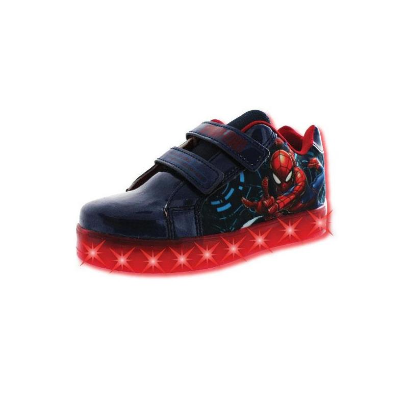 Sneakers Spiderman marino con luces T03514