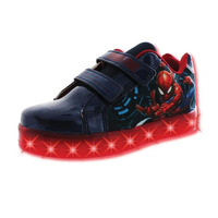 Sneakers Spiderman marino con luces T03514