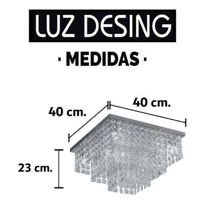 Plafon Cuadrado Escalonado 6 Luces Apto Led G9 Moderno Mg