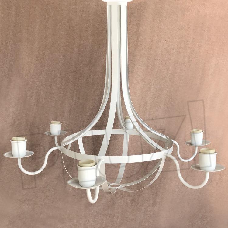 Lámpara Colgante Araña Pera 6 Luces - Jaula...