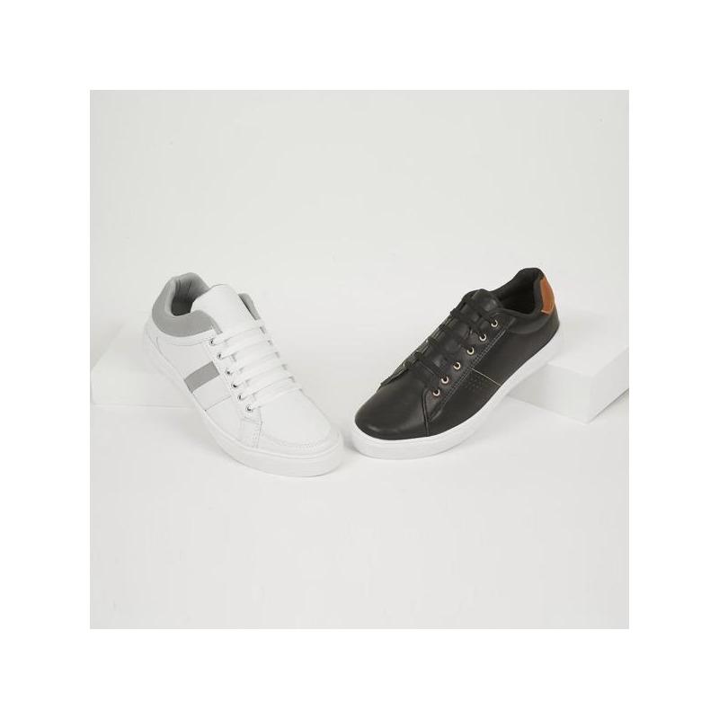 Combo sneakers blanco y negro 018851