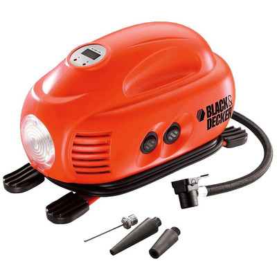 Mini Compressor Domestico 12V Digital com Lanterna - ASI200-LA - Black&Decker