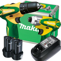 Kit Furadeira e Parafusadeira HP330DBR/TD090DBR + Carregador e 2 Baterias - DK1493BR Makita - Bivolt