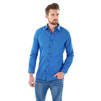 Camisa azul con botonadura  014621