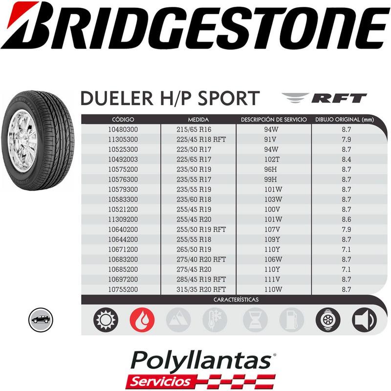 225-65 R17 Bridgestone Dueler HP Sport AS DESCONTINUADA