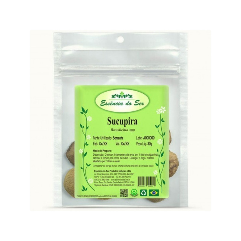 Cha de Sementes de Sucupira - Kit 2 x 30g - Essencia do Ser