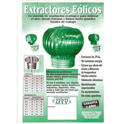 Extractor eolico 4 pulgadas 100mm venti max - Extractor de cocina de pared ...