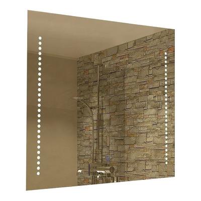 Espejo Aplique Cuadrado Con Moderno Tactil Baño Pared N°1
